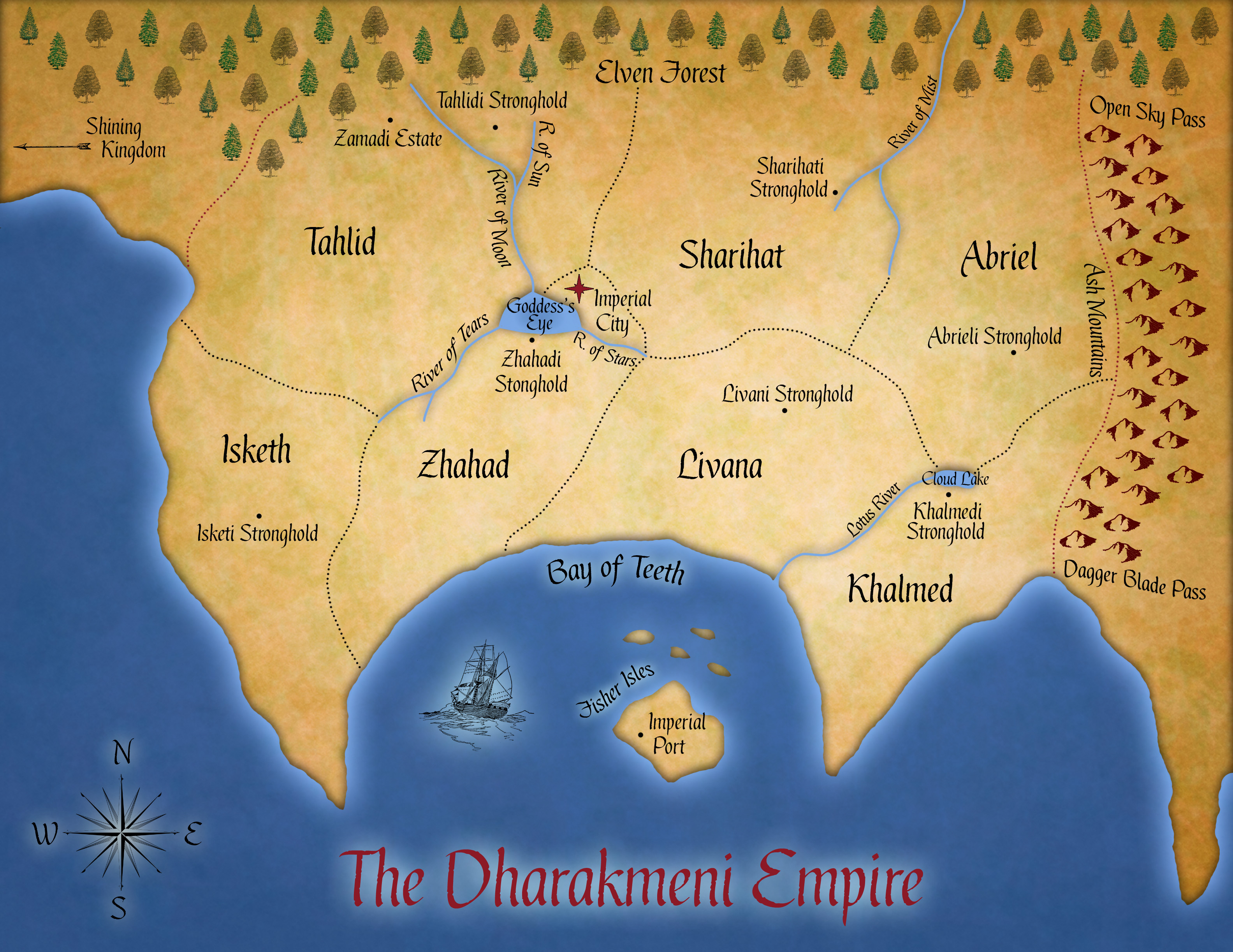 Dharakmeni Empire map