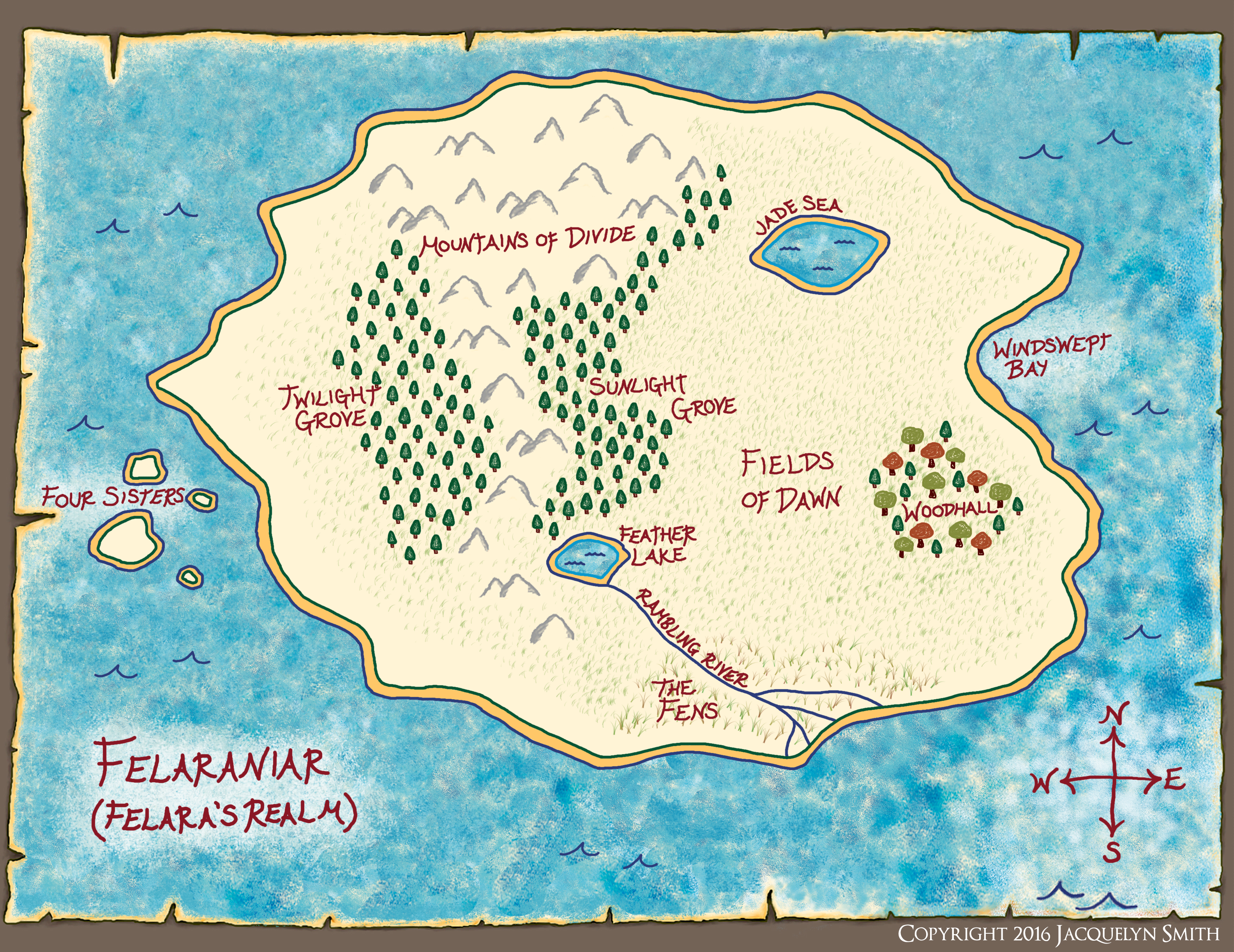 Felaraniar map
