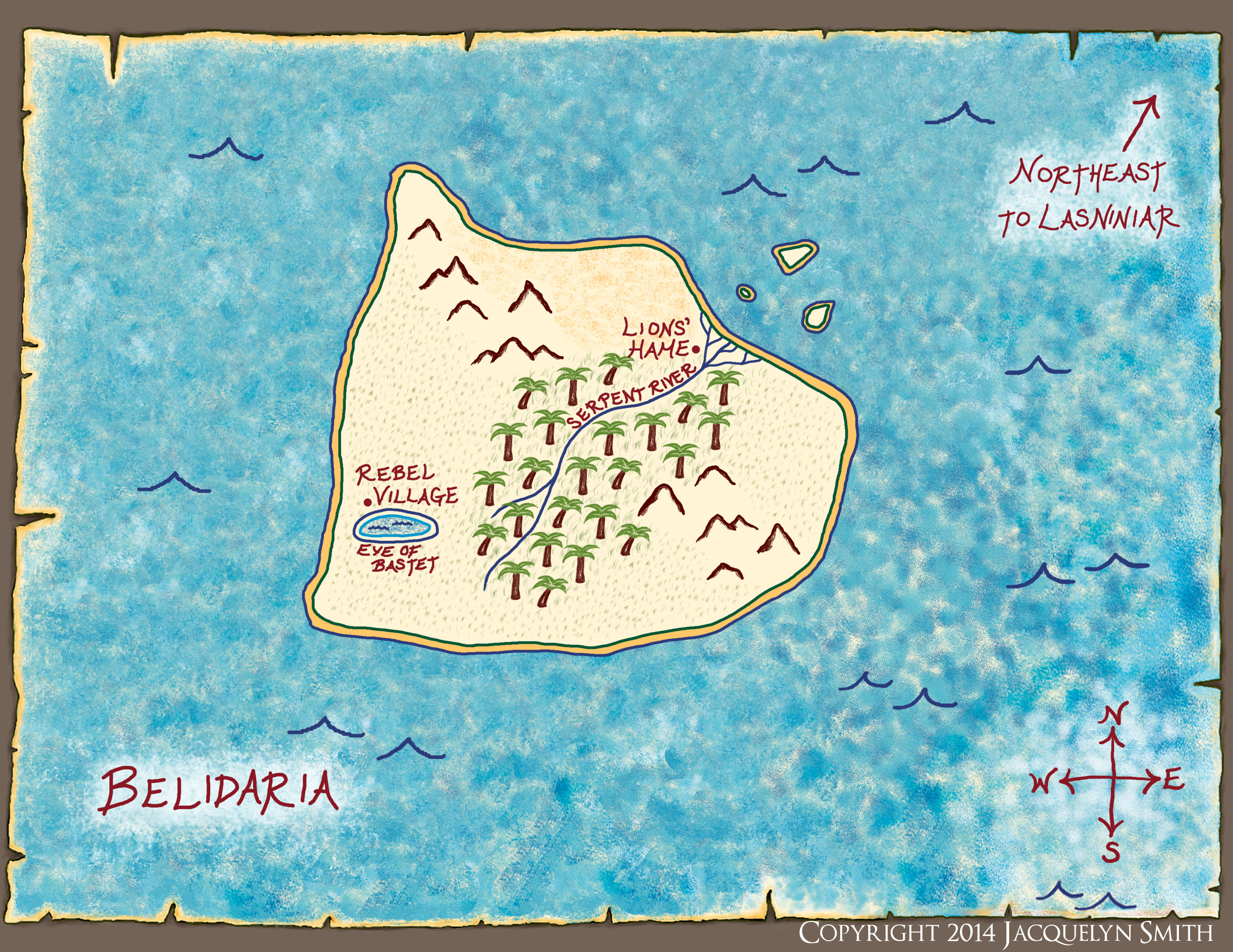 Belidaria map