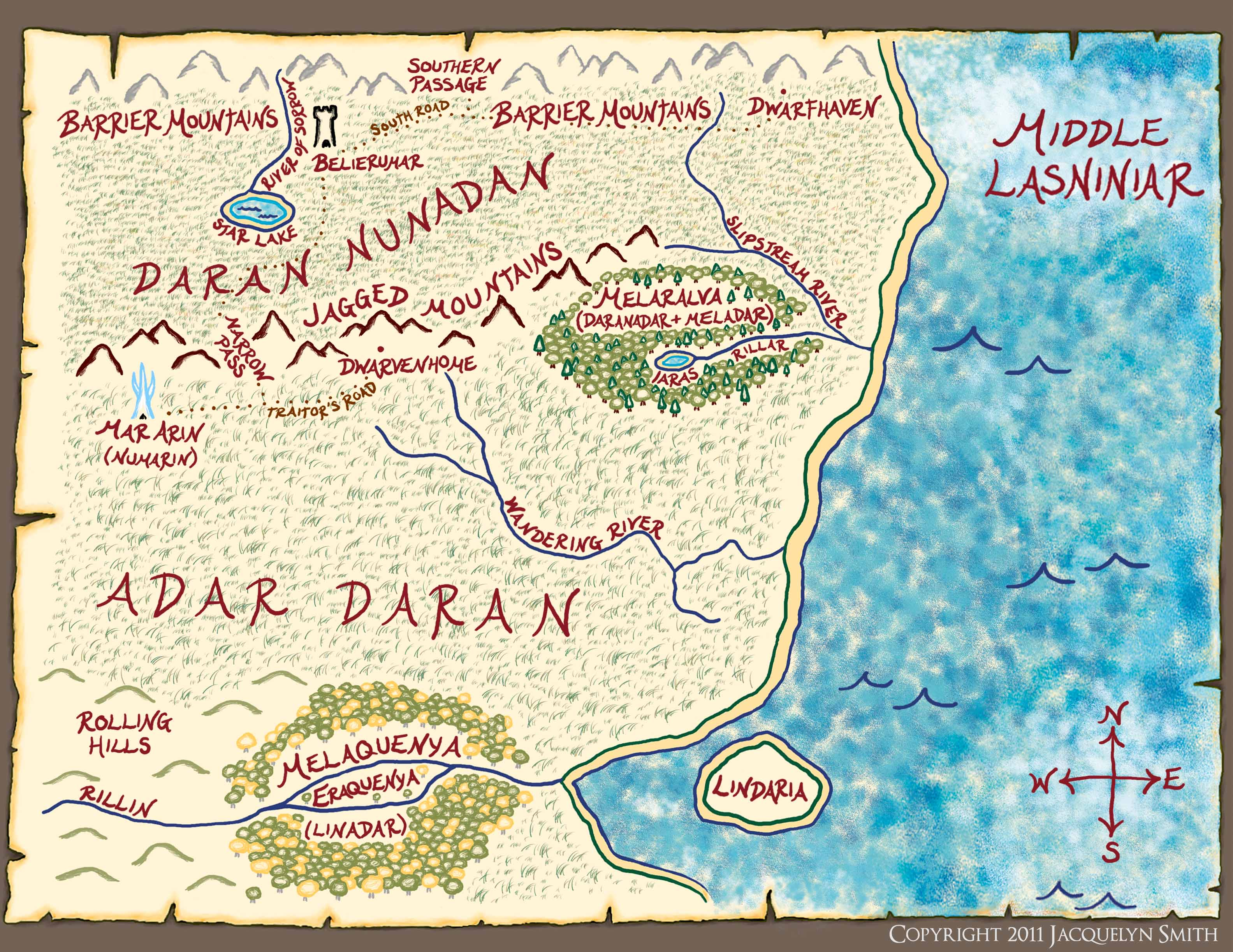 Middle Lasniniar map