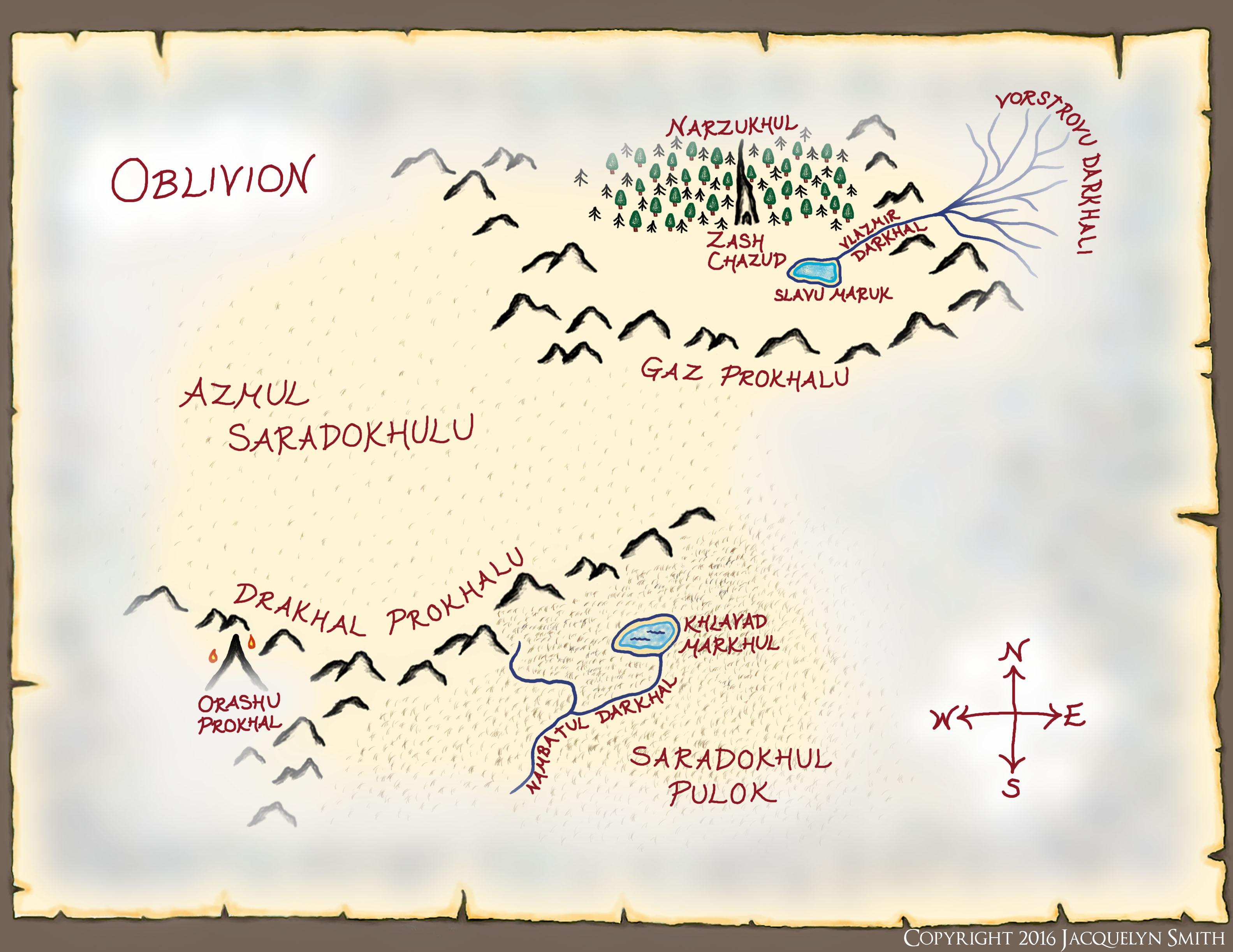 Oblivion map
