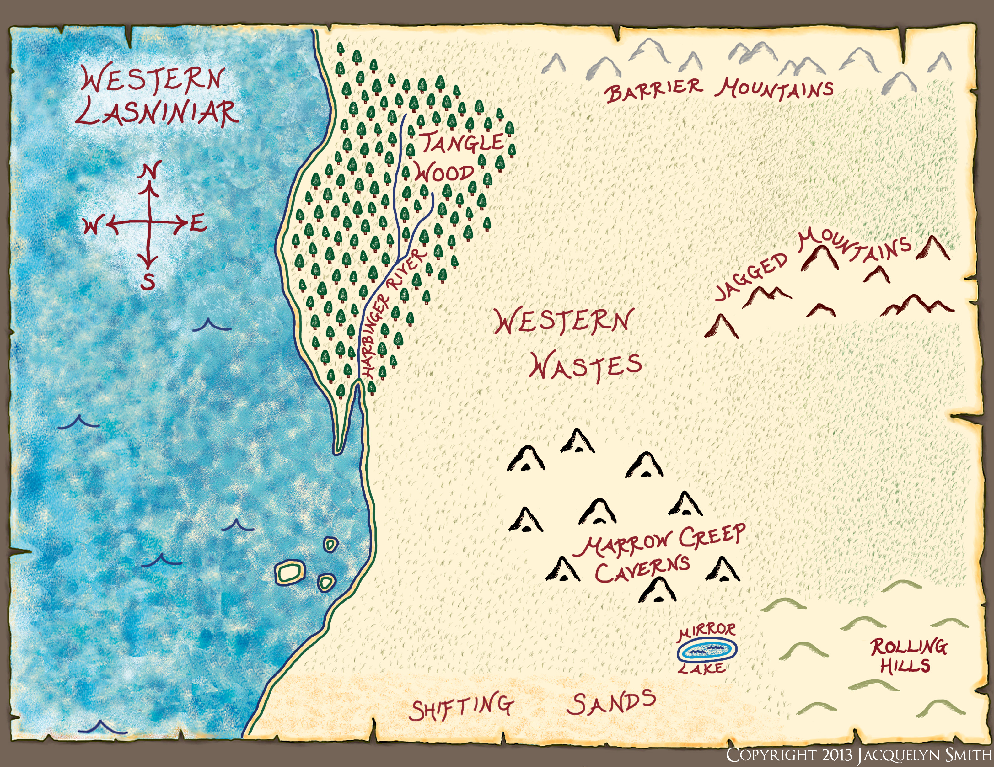 Northern Lasniniar map